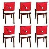 10 piezas de fundas para sillas con gorro de Papá Noel, fun