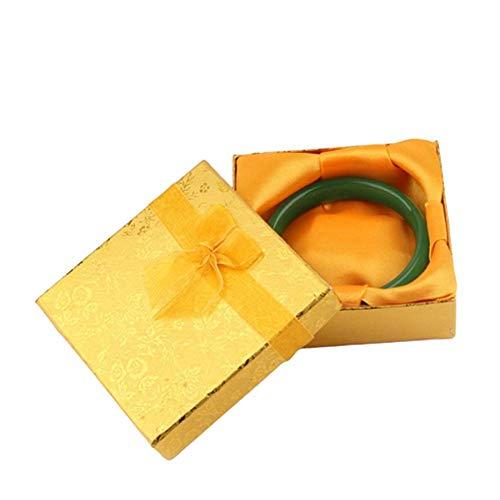 Sunfauo Caja de Regalo Cajas Regalo Carton Encanto de la Caja de Regalo Almacenamiento de joyería y bisutería Organizador de la joyería Yellow,12pcs