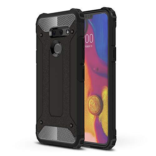 ZDCASE LG G8 ThinQ Funda, Antideslizante TPU Suave & Resistente a Rayones PC Duro A Prueba de choques Protectora Funda para LG G8 ThinQ - Negro