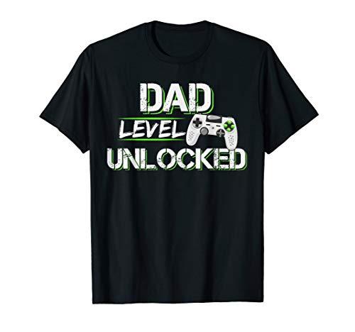 Dad Level Unlocked, Lustiges Geschenk, Vater werden, Baby T-Shirt