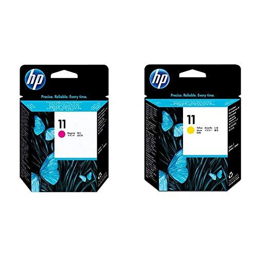 HP C4812A Cabezal de impresión HP 11 + C4813A Cabezal de impresión HP 11, Amarillo