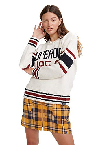 Superdry Intarsia Slouch Knit Sweater Dames