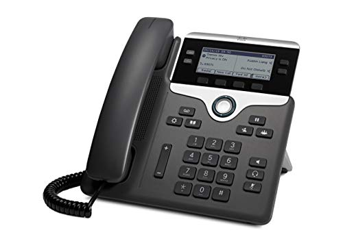Cisco CP-7841-K9= 7800 Series Voip Phone (Power Supply Not Included), black