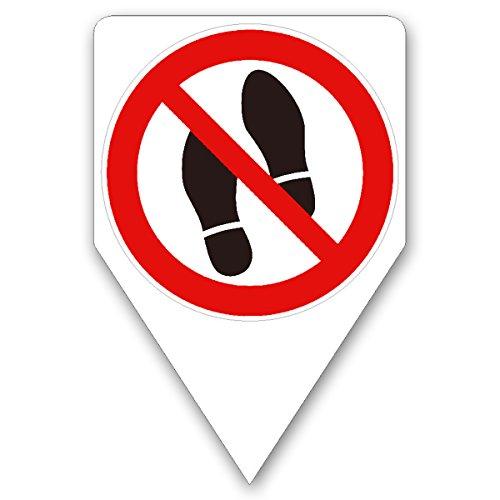 Steckschild Betreten verboten I hin_281 I Größe 20 x 30 cm I Hinweis-Schild Symbol-Schild Kein Durchgang Zutritt I zum Stecken für Rasen Wiese Erde