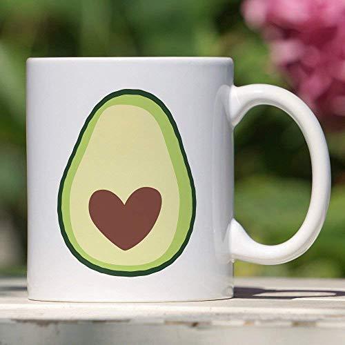 Cremetasse Avocado-Tasse Süßes Avocado-Geschenk Avocado-Herz Einzigartiges Geschenk Avocado-Liebhaber BFF Geschenk Obstliebhaber