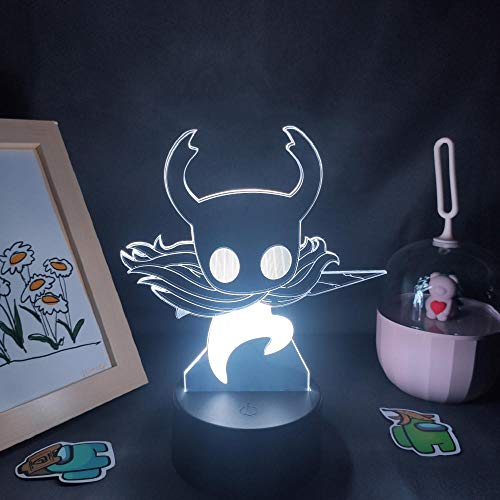 Lámpara de ilusión 3D Luz de noche LED Regalo de juguete de cumpleaños para niños de Knight Hollow Neign Neig para decoración colorida de amigos