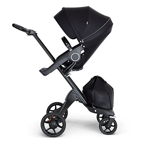 Stokke Xplory V6 Brushed Grey Stroller for Baby and Toddler with Black Chassis...