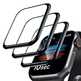 [3 Pack]Screen Protector for Apple Watch Series 6/SE/5/4 44mm, 3D Curved Edge Anti-Scratch Bubble Free HD Ultra Shatterproof Flexible Protector Film Compatible with Apple iWatch Series SE/6/5/4