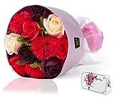 エレガントブーケ ソープフラワー ギフト 母の日 誕生日 プレゼント 女性 退職祝い 結婚祝い 花 発表会 花束 フラワー ブーケ 石けん あすつく対応