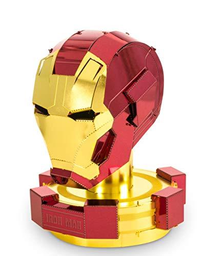 Fascinations MMS324 - Metal Earth 502639 - Marvel Avengers Iron Man Helmet (Rot & Gold), lasergeschnittener 3D-Konstruktionsbausatz, 2 Metallplatinen, ab 14 Jahren