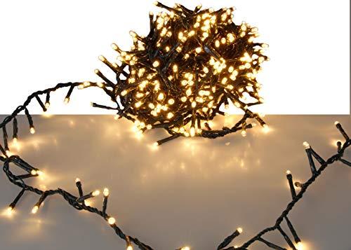 LED Lichterkette mit 1000 LED - EXTRA warmweiß - mit Speicherchip und 8 Funktionen - für den Innen- und Außenbereich
