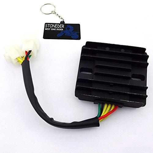 STONEDER Spannungsregler Gleichrichter für 150 cc, 200 cc, 250 cc, 12 V, 6 Drähte, Gleichstrom, für Motorroller, Moped, ATV, Quad
