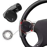 Manopola Volante Universale per Auto, Rotella del Volante in Abs, Manopola del Booster del Volante Rotante a 360°, Adatta per...