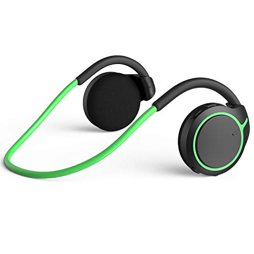 Small Bluetooth Headphones Behind The Head, Sports Wireless Headset with Built in Microphone and Crystal-Clear Sound, Fold-able and Carried in The Purse, and 12-Hour Battery Life, White