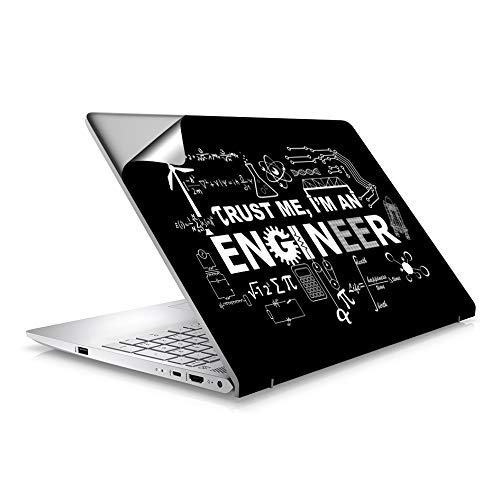 "GADGETSWRAP Abstract Engineer Designs Laptop Skin for 15.6"" Laptops"