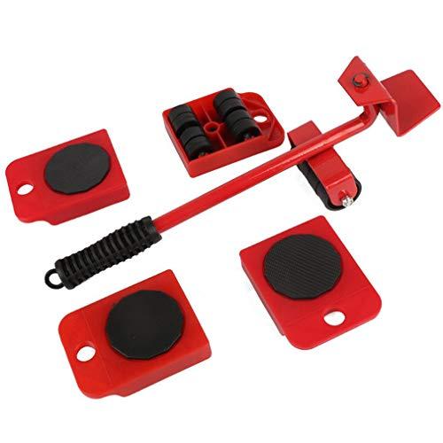 RHNE FünfteiligesSetMöbel-MoverSchwererObjekt-MoverPraktischesbeweglichesWerkzeugRot