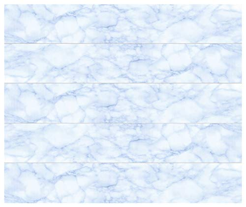20 qm Deckenpaneele   hellblaue Marmoroptik   extrudiertes Polystyrol   Inneneinrichtung   Dekor Paneele   XPS   Hexim   100 x 16,7 cm   P-06