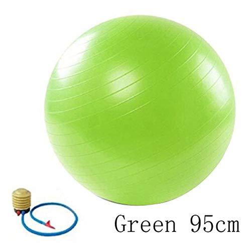 ATP Yoga-Ball groß Fitnessball Sport Anti-Burst Pilates Balance geeignet für Verdickung Training Yoga Ball mit Pumpe Grün 95 cm