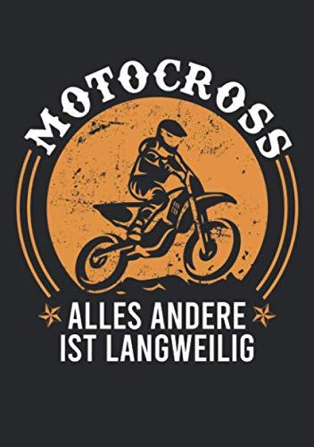Notizbuch A5 liniert mit Softcover Design: Motocross alles andere ist langweilig Motorrad Enduro: 120 linierte DIN A5 Seiten