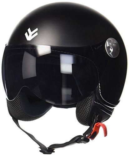 ARMOR Helmets AV-84 Casco Moto Demi Jet, Negro/Mate Negro, XS (53-54cm)