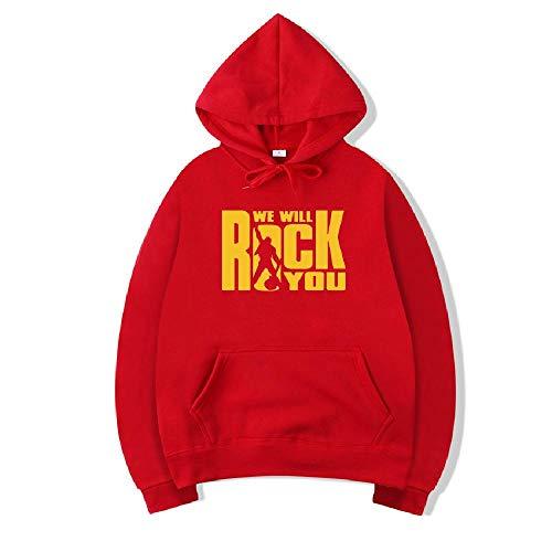 Preisvergleich Produktbild NOBRAND Herbst und Winter Neue Herren Hose Schwarz Sport Mantel Casual Printed Sweater Gr. X-Large,  rot