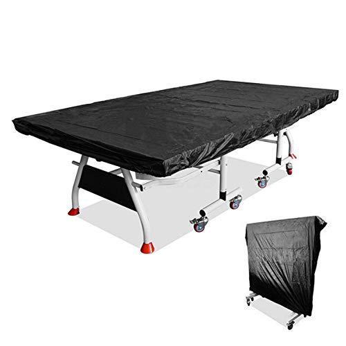 STTC Tischtennisplatte Abdeckung, Strapazierfähige Abdeckhülle für Tischtennisplatten für den Außenbereich, Wasser- und staubdicht, schützt vor Beschädigungen, 280x150cm