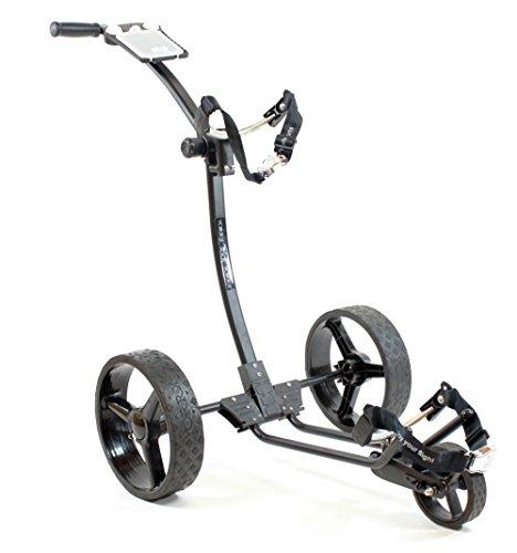 Yorrx® Slim Lion Pro 5 PLUS Golftrolley/Golfwagen/Golf Cart; AKTION: GRATIS REGENSCHIRMHALTER (Schwarz) - 4