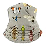 popluck Timo Squad The Usual Suspects - Insects On Grey - Watercolour Bugs Pattern By Cecca Designs Sun-Proof Bandanas 3D Printed Face Scarf Headband Headwear Neck Gaiters Tube Mask for Women/Men