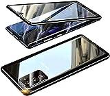 Funda para Samsung Galaxy S20 FE,Protección 360 Grados antigolpes Carcasa[protección Objetivo de la cámara],Adsorción magnética de Metal Case,Súper Delgada Transparente Cover,Negro