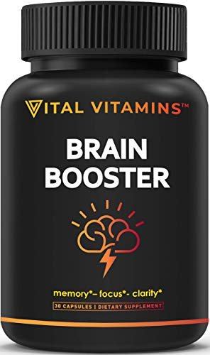 commercial men supplements Brain Intellect Supplements-Improves Concentration, Concentration, Improves Memory and Clarity in Men and Women, Improves Ginkgo Leaf, DMAE, Mind, IQ Nervous Energy, Vitamin B12, Bacopamonieri
