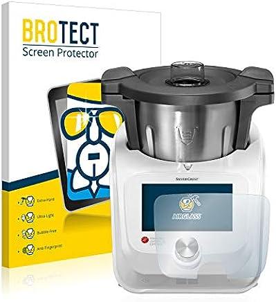 BROTECT Protector Pantalla Cristal Compatible con Silvercrest Monsieur Cuisine Connect - Vidrio 9H, AirGlass
