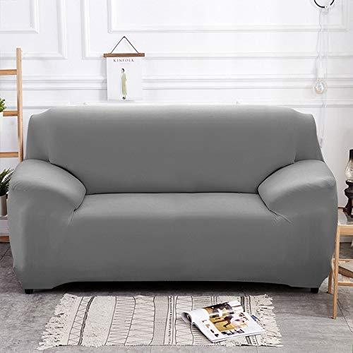 weichuang Funda elástica para sofá de 1/2/3/4 plazas, para sofá de sala de estar, funda de sofá esquinero en forma de L (color gris, especificación: 2 fundas de almohada).