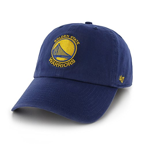 NBA Golden State Warriors Clean Up Adjustable Hat, Royal, One Size