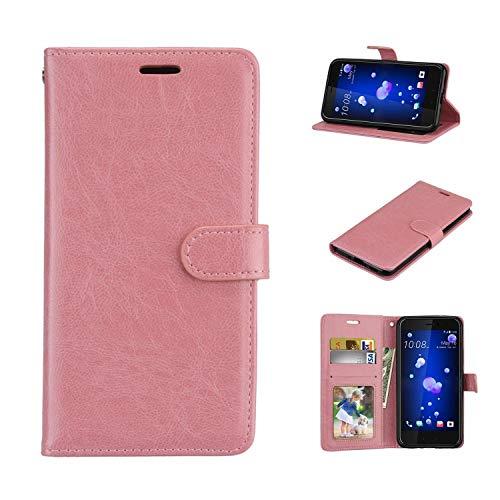 Cover Huawei ShotX/Honor 7i, Custodia d'Affari in Pelle Basamento Protettiva Case Cover per Huawei ShotX/Honor 7i [Pink]