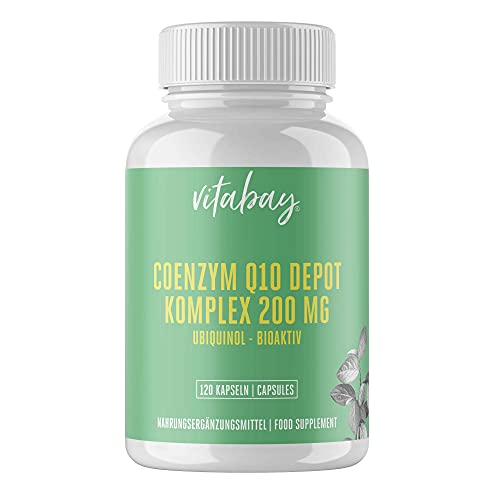Coenzym Q10 Ubichinon DEPOT Komplex 200 mg • 120 vegane Kapseln • Hochdosiert • Bioverfügbar