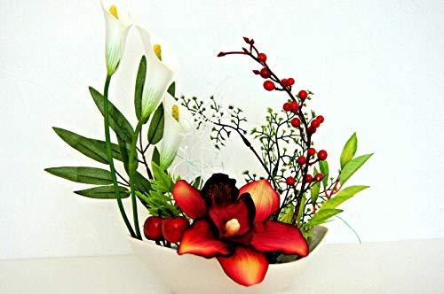 Tischdeko Tischdekoration Hochzeit Büro Geburtstag Deko Tischgesteck Calla K 03 (K03-2)