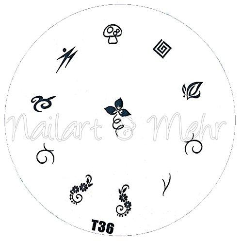 Pochoir de stamping # T 36 Tribals, tatouages, etc.