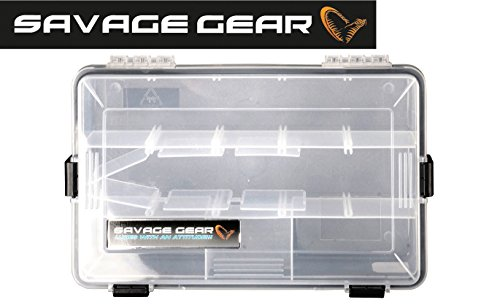 Savage Gear Lure Box 35,5 x23x9,2cm Angelbox wasserdicht, Tacklebox, Köderbox, Anglerbox, Kunstköderbox, Boxen für Gummiköder, Wobbler, Angelköder