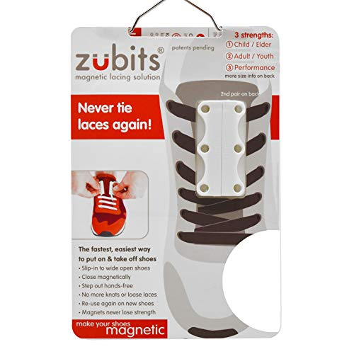 zubits® - Chiusure magnetiche per scarpe - Mai più scarpe slacciate! ORIGINALI 2.0 (#3 Performance Adulti, bianco)