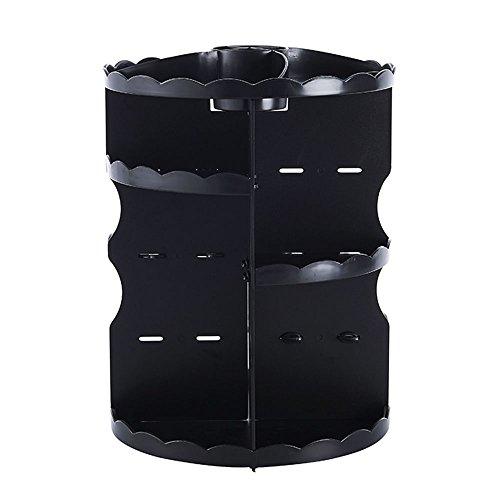 Folding table LVZAIXI Boîte de Rangement Pliable Commode Simple et Rotatif (Couleur : Noir)