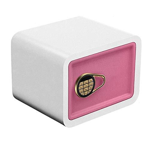 Boxen Veranstalter Wandschlüssel Tresor Doppel 380 * 300 * 300mm Kleine Haushaltsdigitaltastatur Notfall Offenen Schlüsselschrank Rosa Blau (Farbe: A)