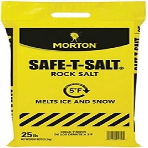 Morton Safe-T-Salt Rock Salt 25.0 LB For Snow And Ice Removal
