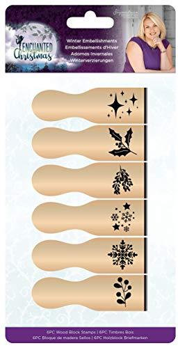 Crafter's Companion S-EC-WBS-WINE Sara Signature Encantados de Bloques Sellos de la Navidad Adornos de Invierno, Multi, Un tamaño