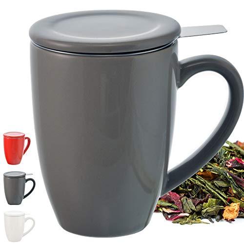 GROSCHE Kassel Tazza da Tè con Infusore & Tazza da Tè con Infusore in Acciaio Inossidabile