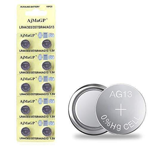 10 Pack 1.5v LR44 AG13 357 303 SR44 Button Coin Cell Battery