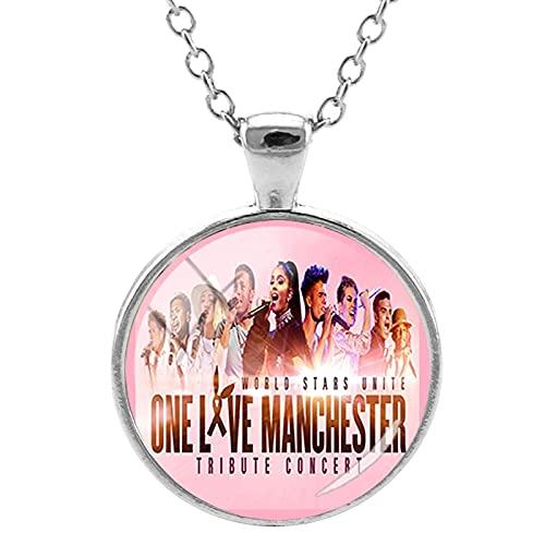 Collar con colgante Ariana Grande para mujer One Love Manchester Gargantilla redonda para mujer