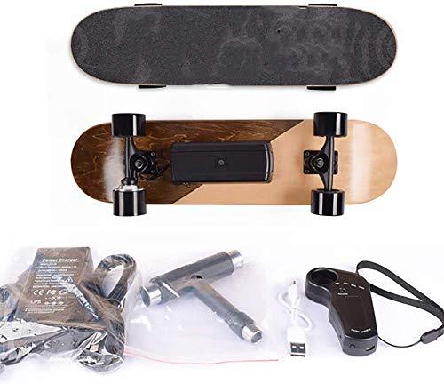 NOBRAND 7 Capas de Arce Longboard Skate Longboard eléctrica, patín eléctrico sin inalámbrica Junta a Distancia para Adultos y Adolescentes,4