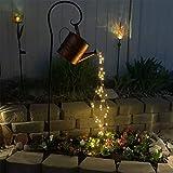 Luce a LED, lampada per annaffiatoio, luci da giardino con doccia a stella, luce notturna stellata, luci decorative romantiche per cortile, giardino, sentiero