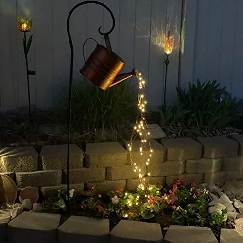 LED String Light, Watering Can Lamp, Star Shower Garden Lights, Starry Fairy Night Light, Romantic Decorative Lights for Yard, Garden, Path