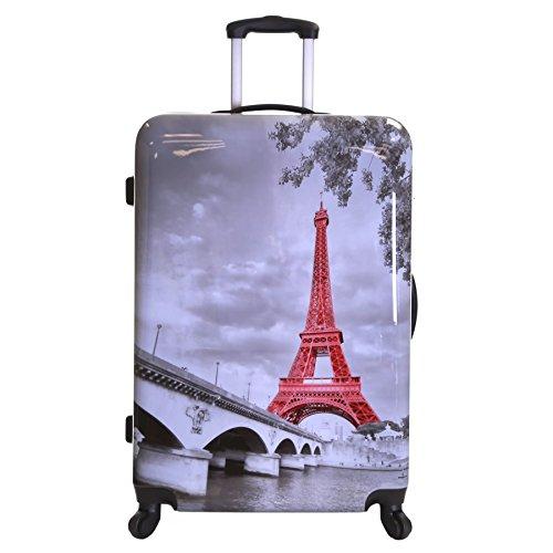 Karabar Falla 76 cm Maleta de 4 Ruedas, Torre Eiffel